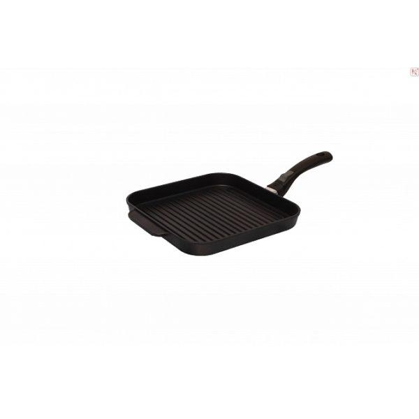 Сковорода квадратная гриль «ВИКТОРИЯ» 260*260 со съемной ручкой «МЕЧТА»