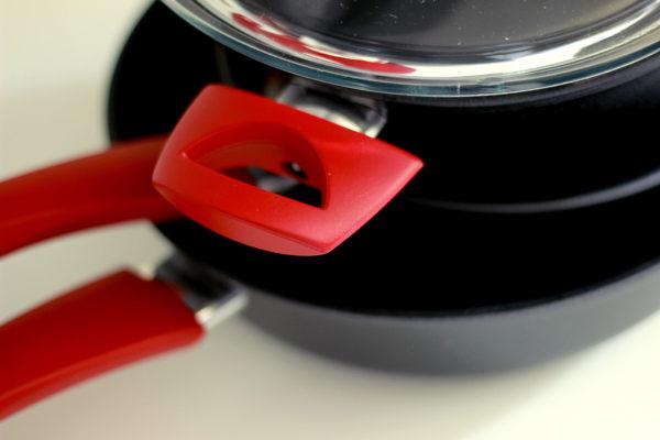 """Кастрюля """"Виктория"""" АЛА 4,0 л со стеклянной крышкой и красными ручками """"Мечта"""""""